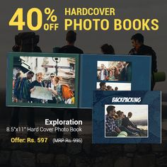 Your toes in the sand or getting dirty in the wilderness – so many fun memories happen during your traveling adventures. Keep your most treasured moments safe in a Photo Book worthy of your travels. Use the code HCBOOK40 by 17th November and get 40% off