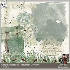 Garden Notebook - Fragment Overlays : Scrap Art Studio, Where Creativity Soars