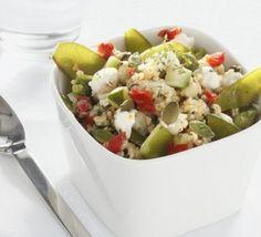 Salade de boulghour aux courgettes et au chèvre