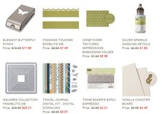 Stampin' Up! Weekly Deals -- August 19 through August 25th.