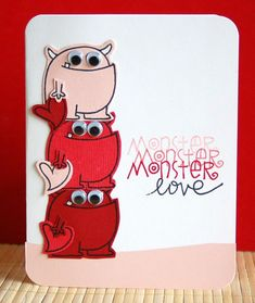 Monster Love card by Teri Anderson for Paper Smooches - Falling For You stamp set