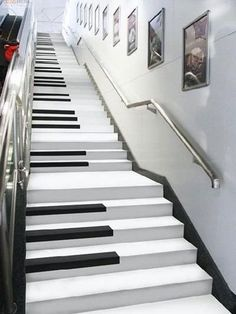 Stairs Piano design Staircase Home decor Piano Stairs, Basement Stairs, Open Basement, Basement Ideas, Staircase Design, Staircase Ideas, Staircase Remodel, Open Staircase, Staircase Wall Lighting
