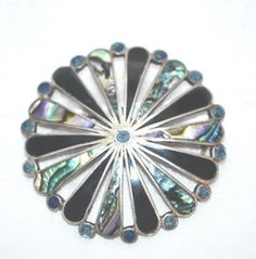 Signed Taxco Sterling Brooch by LustfulJewels on Etsy
