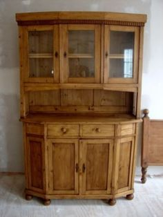 euro vintage furniture   Late 1800's Antique European pine cupboard !! NO RESERVE !! Completed