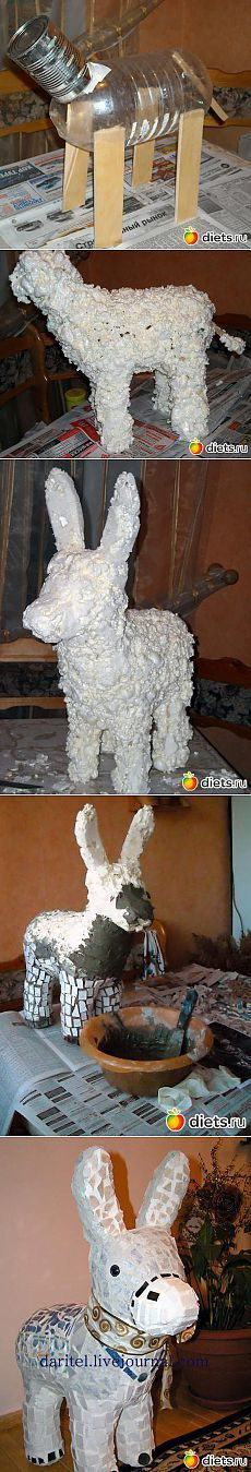 Garden figurine & Donkey & quot; - from the mounting foam: Our hands are not for boredom: Groups - diets.ru