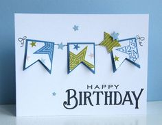 KandRdesigns-cute birthday card for boy or change colors for girl