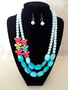 Hey, I found this really awesome Etsy listing at https://www.etsy.com/listing/232366818/turquoise-anthropologie-necklace