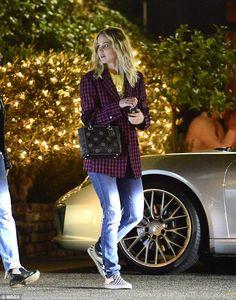 Chic: Jennifer Lawrence sported a casual ensemble for dinner at Locanda Portofino restaura...