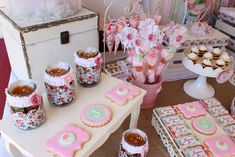 Vintage birthday party cookies! See more party ideas at CatchMyParty.com!