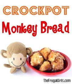 Crockpot Monkey Bread Recipe at TheFrugalGirls.com