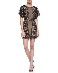 For Love & Lemons - San Marcos Open-Back Lace Dress