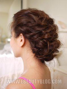EbeautyBlog.com: Easy Messy Updo Hair Tutorial