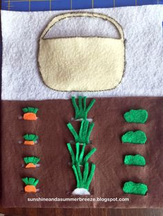Sunshine and a Summer Breeze: Quiet Book: Garden Page - no sew