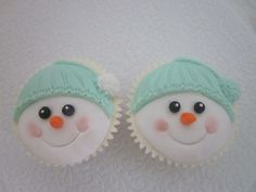 Christmas Snowmen Cupcakes by Cup Cup & Away, Korumburra, Victoria, Australia. You'll find this Cake Appreciation Society Member in our Directory at www.cakeappreciationsociety.com