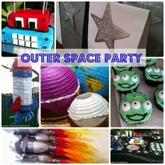 Lots of fun and simple ideas for a space themed birthday party.