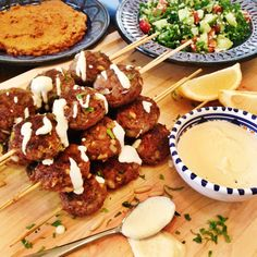 Lamb kofta kebabs with tahina sauce  Smith St PaleoLamb kofta kebabs with tahina sauce  Smith St Paleo