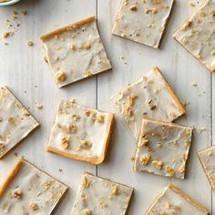 Honey Cinnamon Bars - Taste of Home Spice Cookies, Cookie Bars, Bar Cookies, Fall Dessert Recipes, Fall Desserts, Potluck Recipes, Cinnamon Desserts, Desert Recipes, Taste Of Home