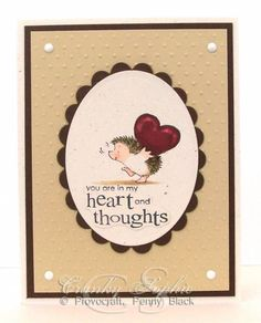 Hedgehog with heart by SophieLaFontaine - Cards and Paper Crafts at Splitcoaststampers