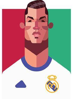 Ilustración de Cristiano Ronaldo hecha por Daniel Nyari