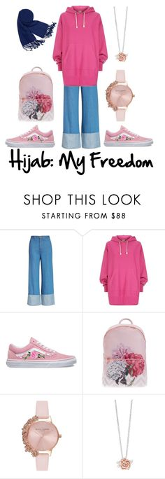"""""""My Hijab is my Freedom ⚡🔥💖"""" by palestinian-and-proud ❤ liked on Polyvore featuring Sea, New York, Champion, Vans, Ted Baker, Olivia Burton and Forzieri"""