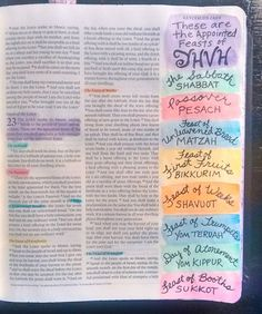 A simple page in my journaling Bible about the Feasts of YHVH. I have come to lo… A simple page in my journaling Bible about the Feasts of YHVH. I have come to love these appointments with God so very… Continue Reading → Bible Study Journal, Journal Pages, Journal Art, Leviticus 23, Understanding The Bible, New Bible, Illustrated Faith, Bible Truth, Scrapbook Journal