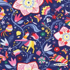 ECLECTIC MAKER FABRIC  Daydreams Kate Spain Arcadia in Ink