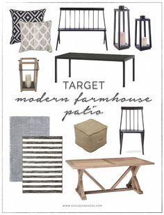 Modern Farmhouse Patio Furniture + Decor from Target   ahouseandadog.com