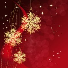 Christmas snowflake baubles background vector - Vector Background free download