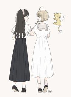 I recommend that manga Manga Girl, Anime Art Girl, Manga Anime, Kawaii Girl, Kawaii Anime, Tomoyo Sakura, Character Art, Character Design, Friend Anime