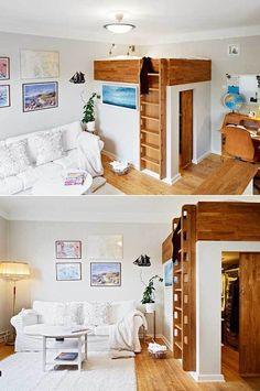 Con estas ideas no tienes problemas de espacio, no importa lo pequeña que sea esa habitación o la casa entera ... desde super dormitorios hasta cocinas. La ventaja no es solo el ahorro de espacio y que puedas meter más cosas y muebles en el mismo espacio, sino que el ...