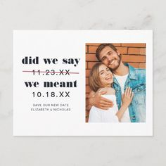 Funny Wedding Invitations, Save The Date Invitations, Save The Date Postcards, Save The Date Magnets, Save The Date Cards, Zazzle Invitations, Wedding Save The Date Examples, Wedding Save The Dates, Modern Typeface
