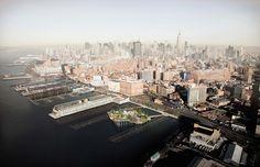 thomas heatherwick studio pier 55 hudson river new york designboom