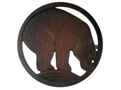 Trivet from Recycled Glass - Bear