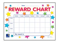 PACEY exclusive reward charts. iChild.co.uk Childcare, Charts, Things To Do, Names, Activities, Things To Make, Graphics, Todo List