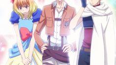 Igarashi, Nanashima, Shinomiya, funny, cute, cosplay, outfits, Shion, Attack on Titan, Scout Regiment, dress, gif; Kiss Him, Not Me!