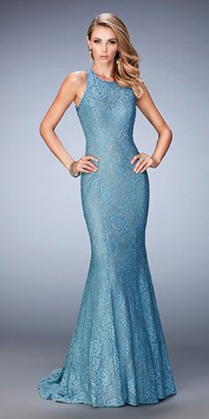 Pretty Lace Dress with Open Back 22811