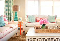 Alan Campbell Mojave chairs Montecito pillows and Montecito Zig Zag bench