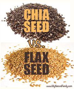 Chia vs Flax Seed - MyNaturalFamily.com #chia #flax