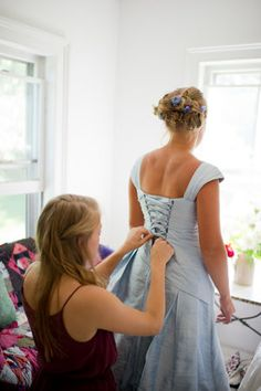 Designed by Rachel Alvia of Avail & Company Pastel Wedding Dresses, Light Blue Wedding Dress, Blue Wedding Gowns, Custom Wedding Dress, Country Wedding Dresses, Perfect Wedding Dress, Wedding Looks, Color Pairing, Dream Dress