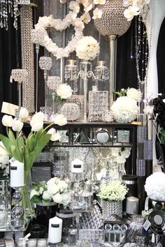 This pic encompasses so many of our ideas for centerpieces!