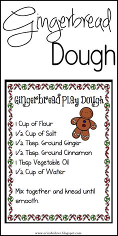 Free Gingerbread Dough Recipe Download/Printable.
