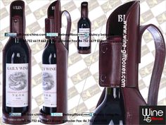 Fashionable leather wine bottle holder, leather wine carrier. More source at www.gift-box-china.com