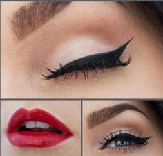 Frisuren Kurz Classic make-up: Pinup, Silver Screen Iris as garden p Pin Up Makeup, Makeup Tips, Beauty Makeup, Makeup Looks, Hair Makeup, Makeup Ideas, Rock Makeup, Pinup Girl Makeup, Crazy Makeup