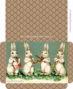 free printable easter bunny seed packets