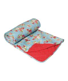Blue Cottage Rose Quilted Bedspread by Home Treats from Rex on #zulilyUK today!