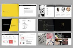 Modern Portfolio Booklet (36 pages) by Ramandhani on @creativemarket
