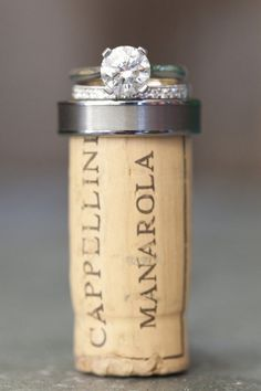weddinglove-bliss: champagne cork from the toast
