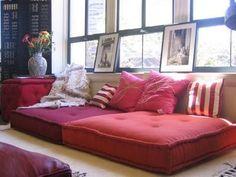 morocco floor pillows, living room