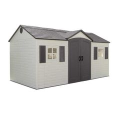 Lifetime 6446 15-by-8 Foot Outdoor Storage Shed with Shutters, Windows, and Skylights - http://howtomakeastorageshed.com/articles/lifetime-6446-15-by-8-foot-outdoor-storage-shed-with-shutters-windows-and-skylights-2/