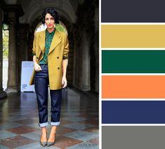 Colour Combinations Fashion, Color Combinations For Clothes, Color Combos, Colour Pallete, Color Trends, Color Schemes, Colourful Outfits, Colorful Fashion, Pantone